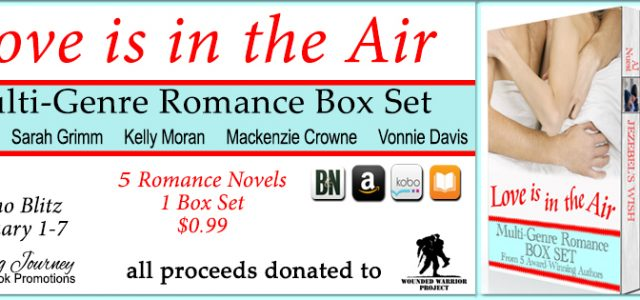 Promo Blitz – Love is in the Air only 99¢ – Proceeds to Wounded Warrior Project