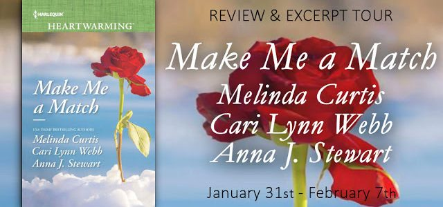 ** Blog Tour / Book Review / Giveaway **  –  MAKE ME A MATCH by Melinda Curtis, Cari Lynn Webb, Anna J. Stewart