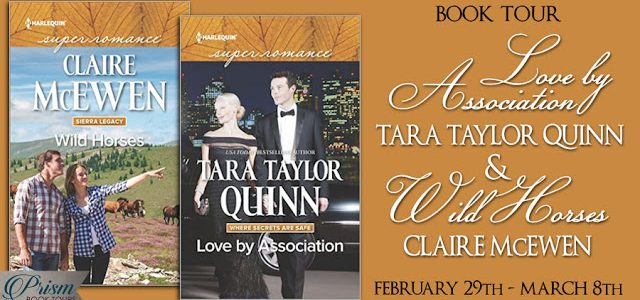 ** Blog Tour / Book Reviews / Giveaways **  LOVE BY ASSOCIATION by Tara Taylor Quinn and WILD HORSES by Claire McEwen