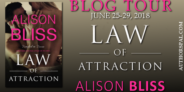 * Blog Tour / Release Day Blast * LAW OF ATTRACTION by Alison Bliss